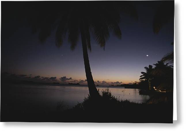 Light And Dark Greeting Cards - Evening Falls Over The Islands Greeting Card by Randy Olson