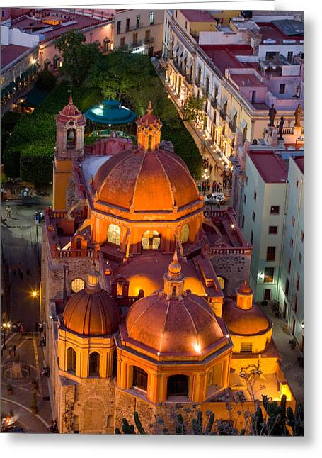 Union Square Greeting Cards - Evening Glow Greeting Card by Eggers   Photography