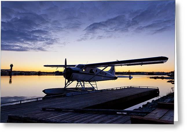 Evening Light on a DeHavilland Beaver Greeting Card by Tim Grams