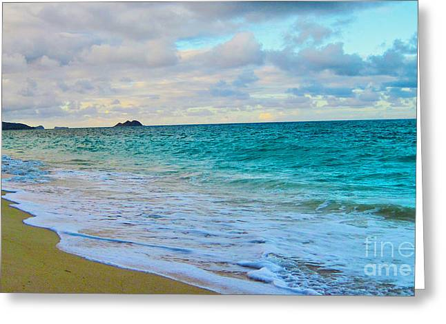 Ocean Images Greeting Cards - Evening on the Beach Greeting Card by Cheryl Young