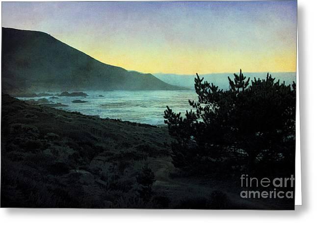 Big Sur Digital Art Greeting Cards - Evening on the California Coast Greeting Card by Ellen Cotton