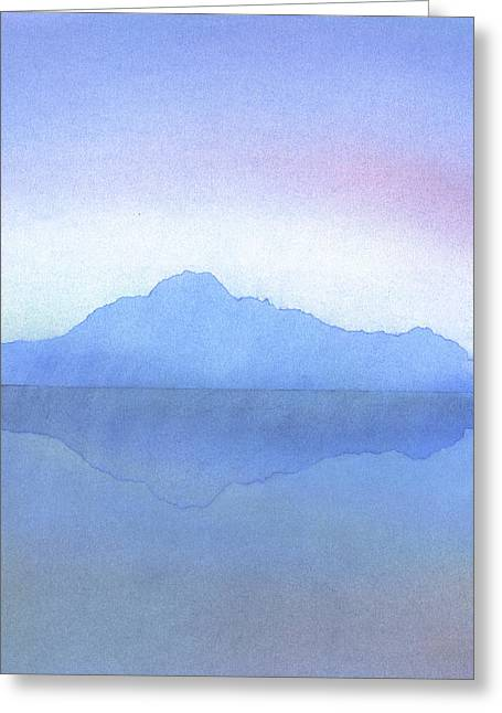 Evening Lights Pastels Greeting Cards - Evening on the Water Greeting Card by Hakon Soreide