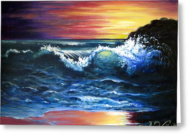 Best Sellers -  - Half Moon Bay Greeting Cards - Evening Pacific Greeting Card by Amy Weller