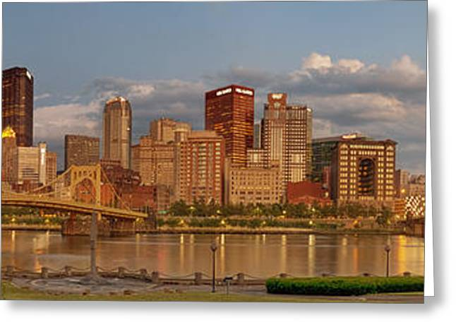 Roberto Greeting Cards - Evening Panorama Greeting Card by Jennifer Grover