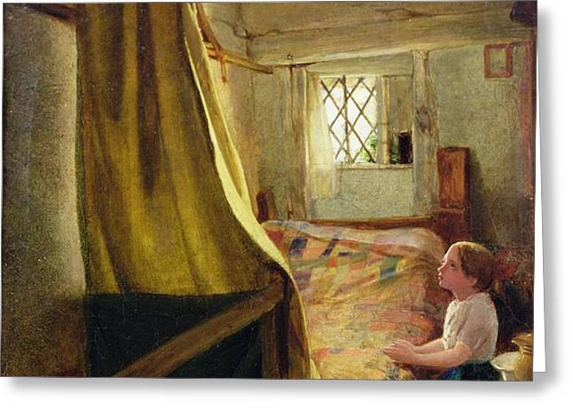 Evening Prayer  Greeting Card by John Bagnold Burgess
