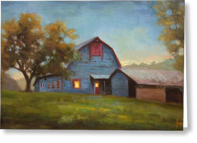 Tennessee Barn Greeting Cards - Evening Sanctuary Greeting Card by Jonathan Howe
