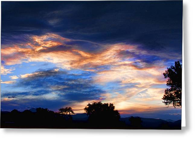 Striking Images Greeting Cards - Evening Sky Greeting Card by James BO  Insogna
