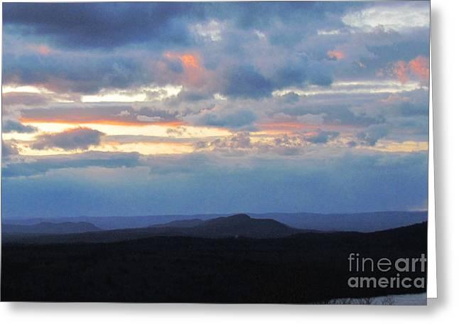 Evening Sky over the Quabbin Greeting Card by Randi Shenkman