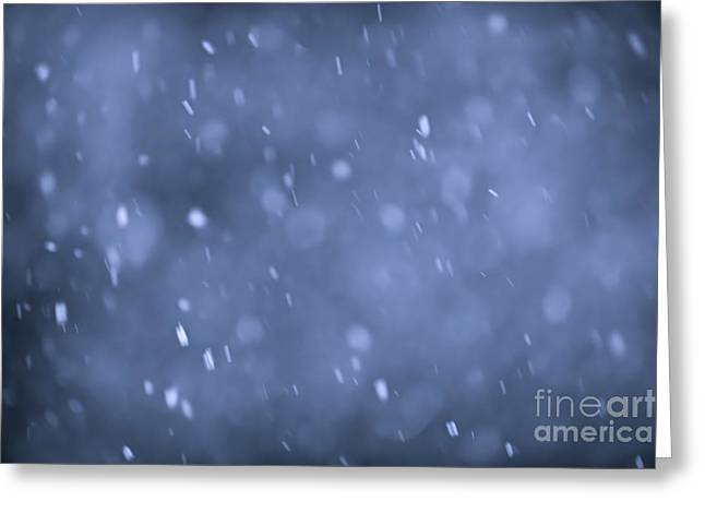 Snow Abstract Greeting Cards - Evening snow Greeting Card by Elena Elisseeva