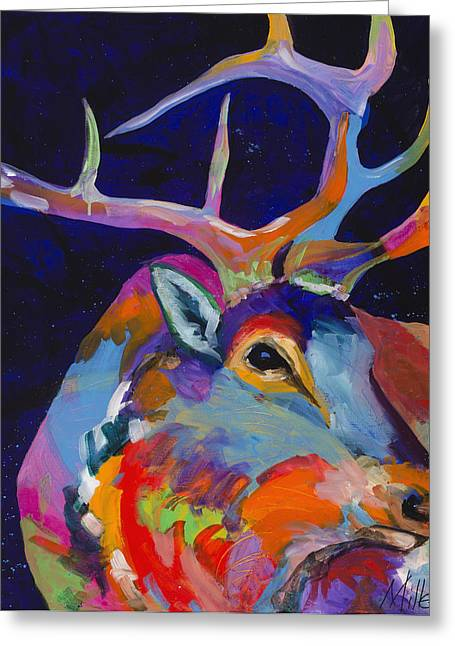 Contemporary Western Greeting Cards - Evening Sounds Greeting Card by Tracy Miller