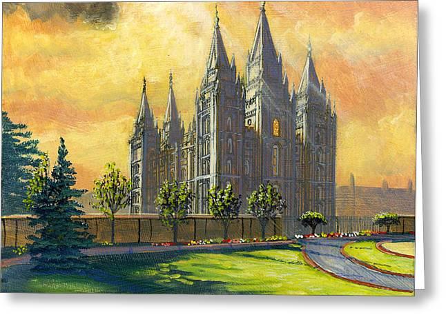 Evening Splendor Greeting Card by Jeff Brimley