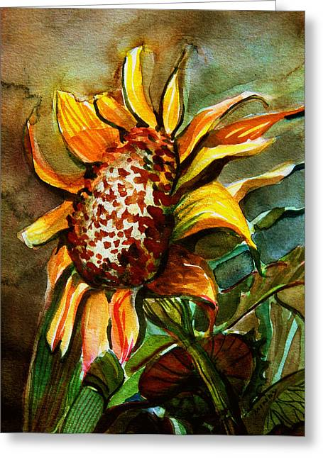 American Food Greeting Cards - Evening Sun Greeting Card by Mindy Newman