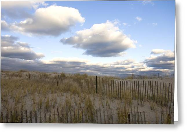 Chatham Greeting Cards - Evening Sunset Beach Scene Along Cape Greeting Card by Keenpress