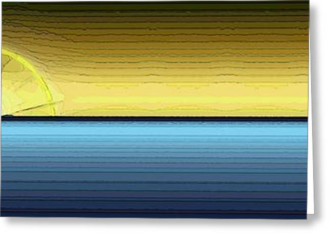 Yellow Sailboats Digital Art Greeting Cards - Eventide 4 Greeting Card by Tim Allen