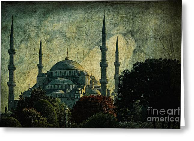 Istanbul Greeting Cards - Eventide Greeting Card by Andrew Paranavitana