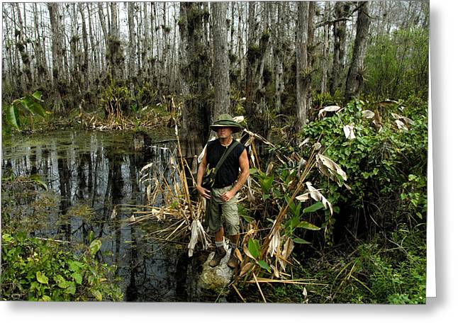 Machete Greeting Cards - Everglades self portrait Greeting Card by David Lee Thompson