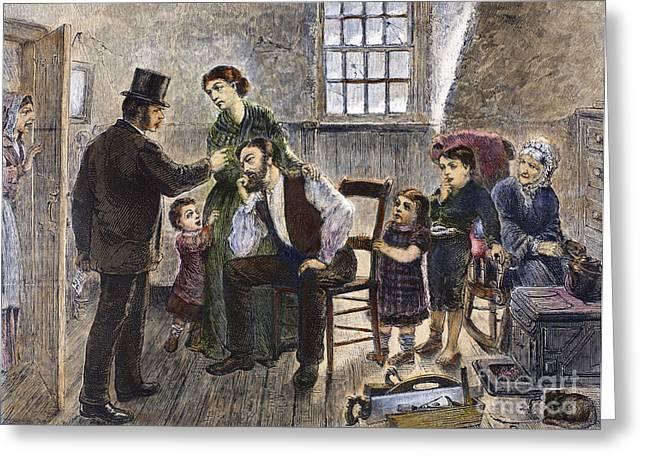 Eviction Greeting Cards - Eviction, 1873 Greeting Card by Granger