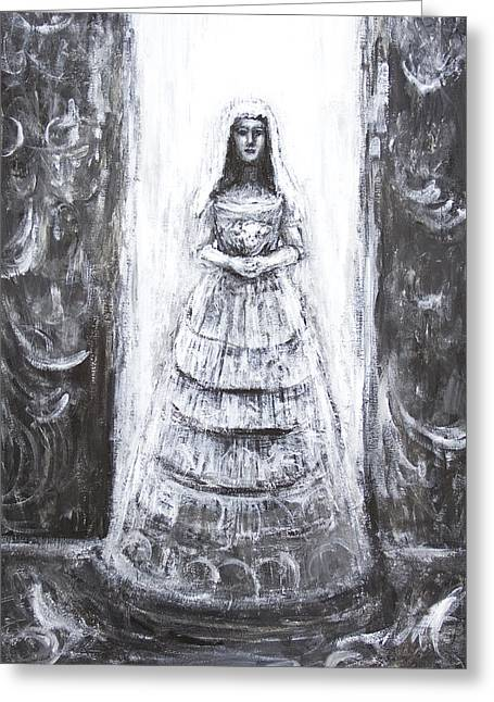 Full-length Portrait Greeting Cards - Evil Bride Greeting Card by Kazuya Akimoto