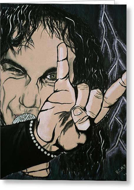 Metal Music Greeting Cards - Evil Eye Greeting Card by Rob  Parker