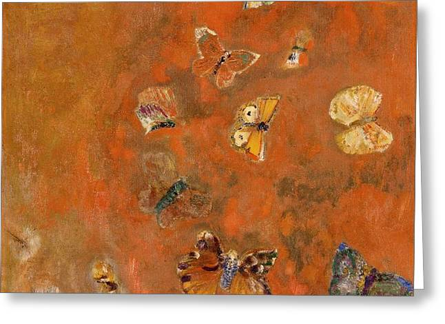 Evocation of Butterflies Greeting Card by Odilon Redon