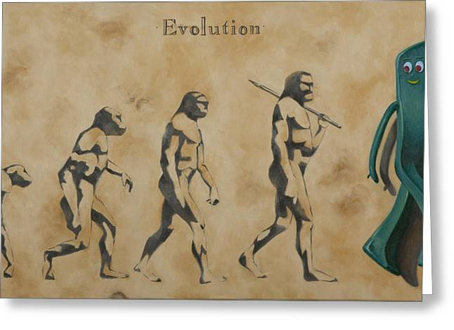 Olive Oil Greeting Cards - Evolution Greeting Card by Judy Sherman