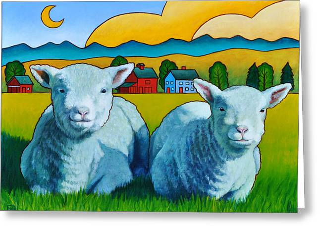 Ewe Greeting Cards - Ewe Two Greeting Card by Stacey Neumiller