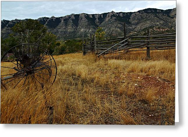 Ewing-Snell Ranch 2 Greeting Card by Larry Ricker