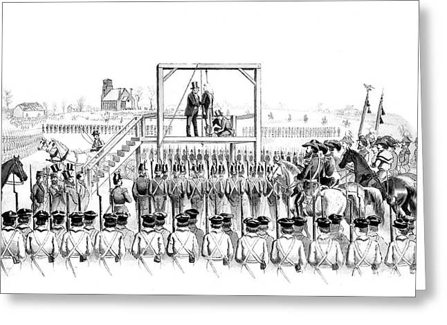 Gallows Greeting Cards - Execution Of John Brown, American Greeting Card by Photo Researchers