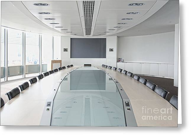Office Space Photographs Greeting Cards - Executive Boardroom Greeting Card by Dave & Les Jacobs