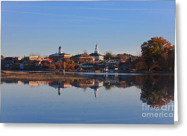 Exeter Hall Greeting Cards - Exeter NH Greeting Card by Douglas Armstrong