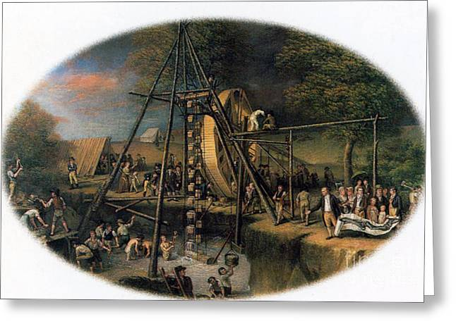 Peale Greeting Cards - Exhumation Of The Mastodon Greeting Card by Science Source