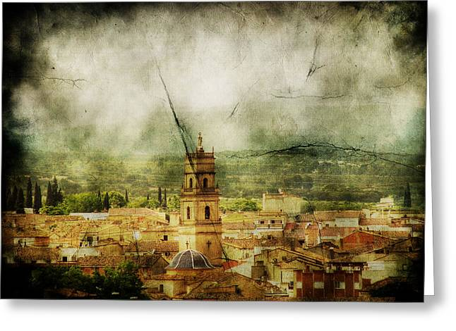 Layers Greeting Cards - Existent Past Greeting Card by Andrew Paranavitana