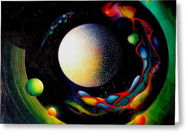 Inner World Paintings Greeting Cards - Exit Greeting Card by Drazen Pavlovic