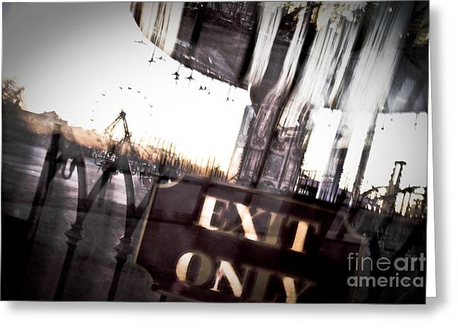 Zydeco Greeting Cards - Exit Only Greeting Card by Pixel Perfect by Michael Moore