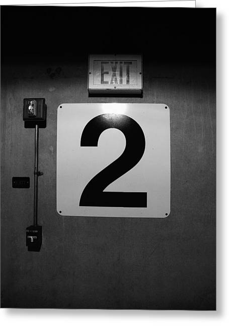 Living Dead Greeting Cards - Exit Two Greeting Card by Bob Orsillo