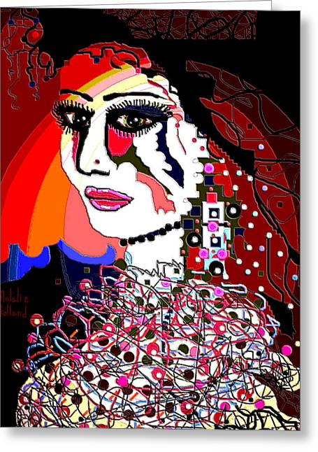Wow Mixed Media Greeting Cards - Exotic Bride Greeting Card by Natalie Holland