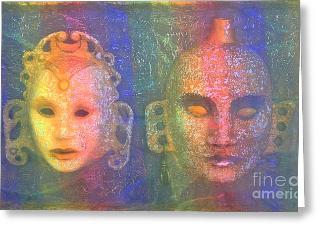 King Reliefs Greeting Cards - Exotic Couple Greeting Card by Nareeta Martin