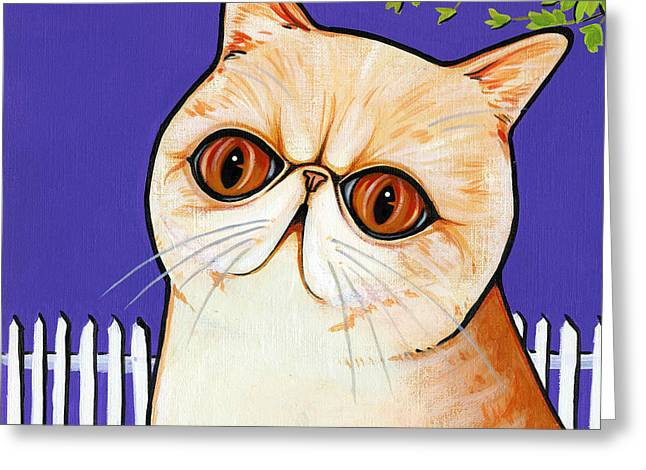 Cat Breeds Portraits Greeting Cards - Exotic Greeting Card by Leanne Wilkes