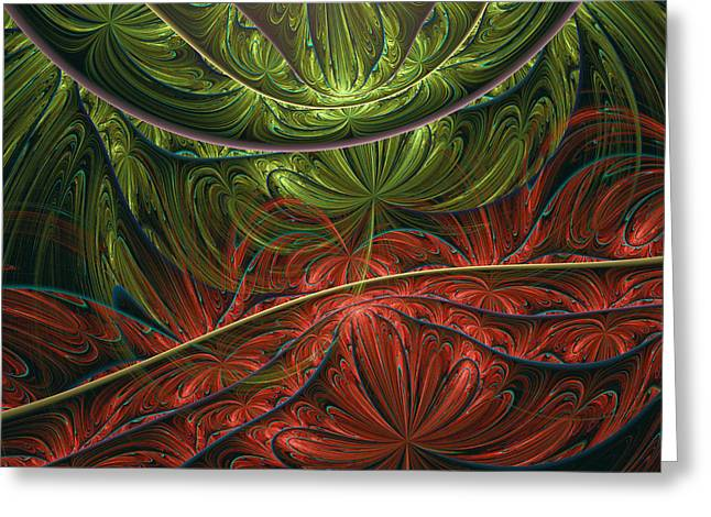 Conceptual Greeting Cards - Exotic Paradise Abstract Greeting Card by Georgiana Romanovna