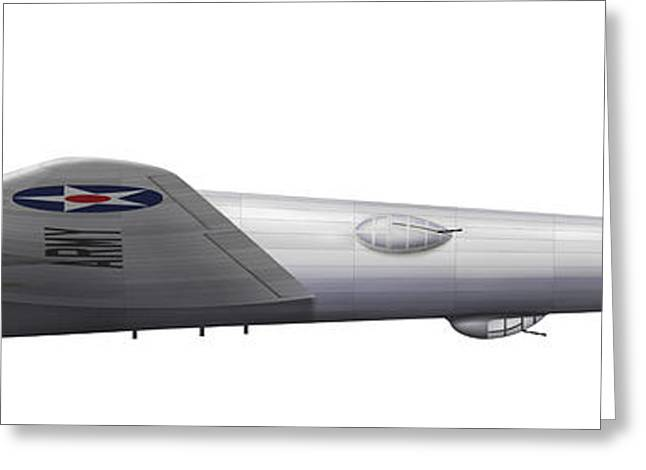Vector Image Greeting Cards - Experimental Boeing Xb-15 Bomber Greeting Card by Chris Sandham-Bailey