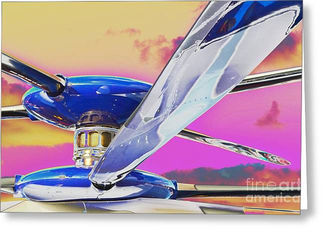 2011 Vna Stuart Airshow Greeting Cards - Experimenting With an Experimental Greeting Card by Lynda Dawson-Youngclaus