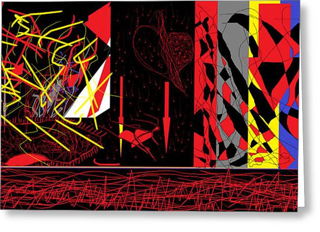 Bipolar Digital Art Greeting Cards - Exploded Hearts Greeting Card by Sam Persons
