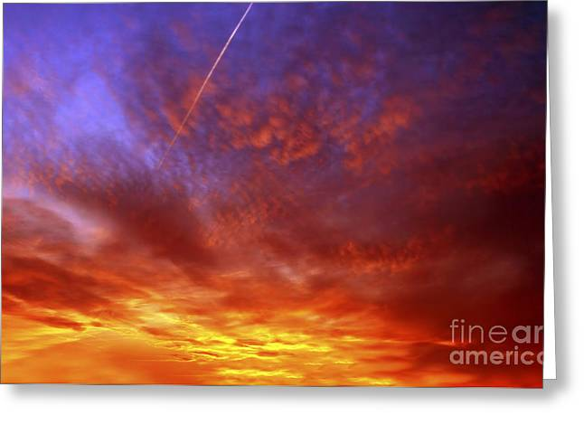 Recently Sold -  - Gloaming Greeting Cards - Exploded Sky Greeting Card by Michal Boubin