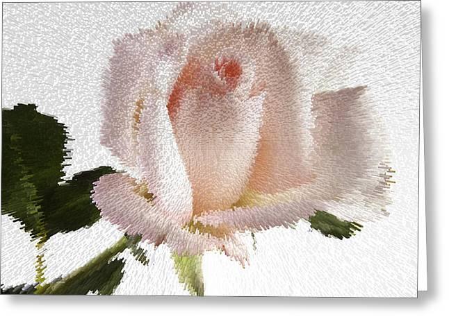 Exploding Pink Rose Greeting Card by M K  Miller