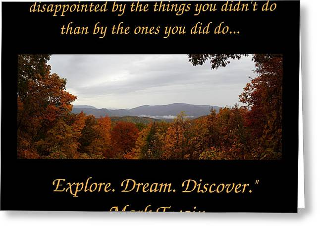 Gatlinburg Tennessee Greeting Cards - Explore Dream Discover Greeting Card by Jessica Buckler