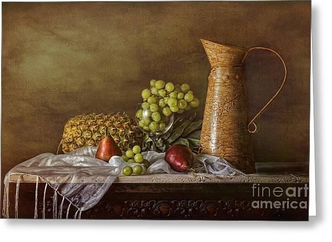 Still Life With Pears Greeting Cards - Exploring Still Life Greeting Card by Sari Sauls