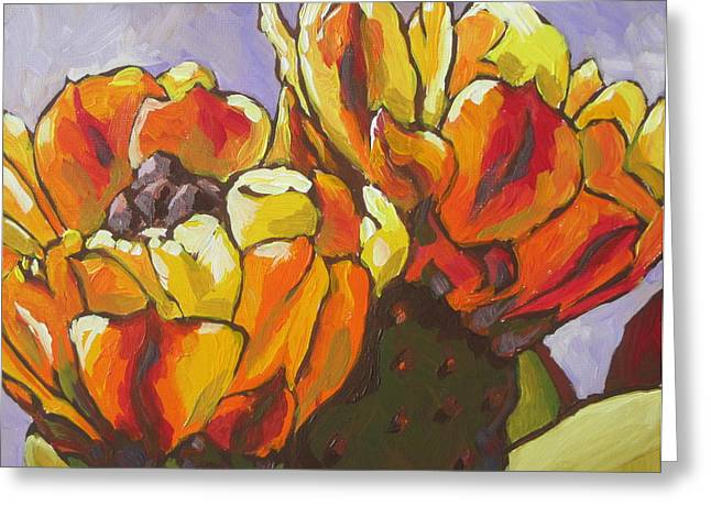 Prickly Greeting Cards - Explosion of Color Greeting Card by Sandy Tracey