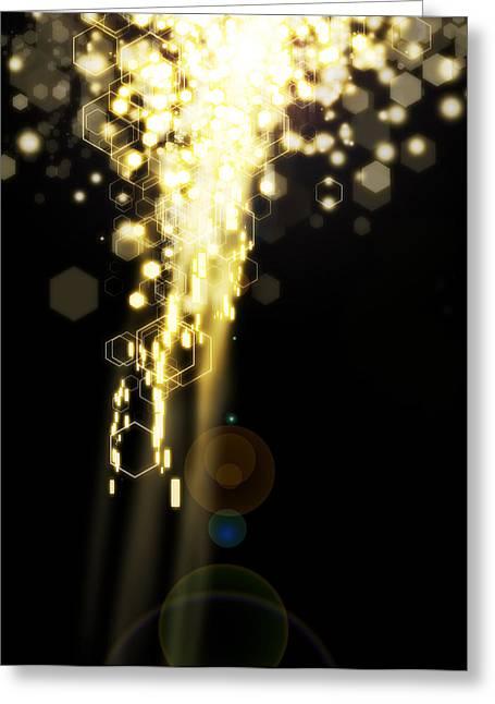 Technology Background Greeting Cards - Explosion Of Lights Greeting Card by Setsiri Silapasuwanchai