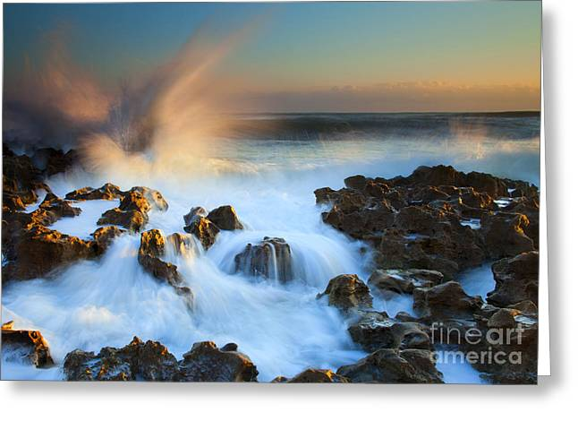 Explosive Dawn Greeting Card by Mike  Dawson