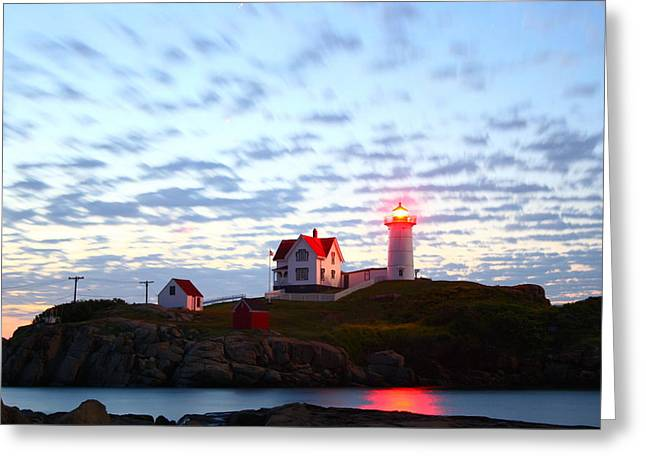 Cape Neddick Lighthouse Greeting Cards - Exposing Daylight In Darkness Greeting Card by Rick  Blood